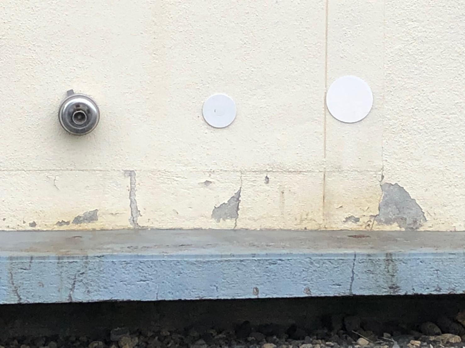 外壁塗膜剥がれ