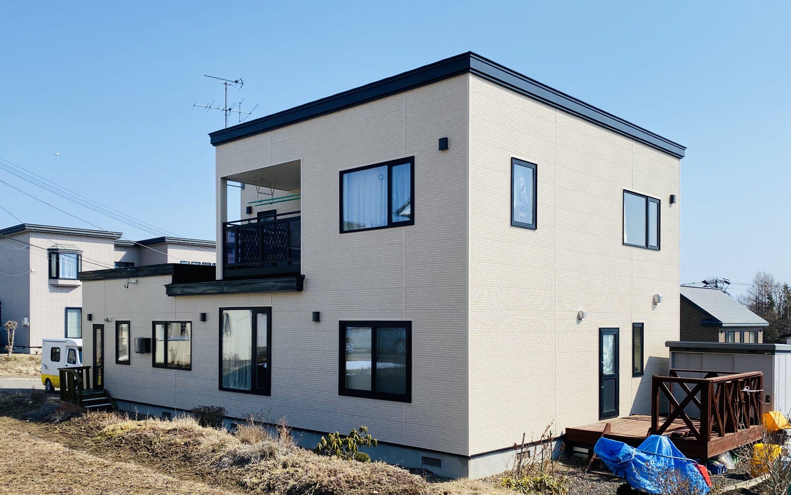網走市・O様|屋根塗装・外壁張替工事