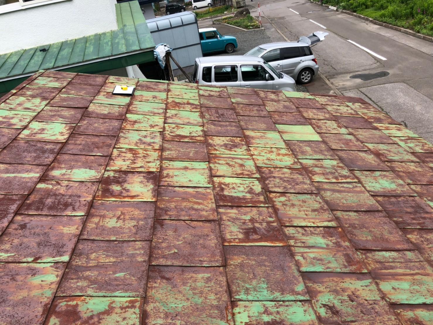 屋根錆部分