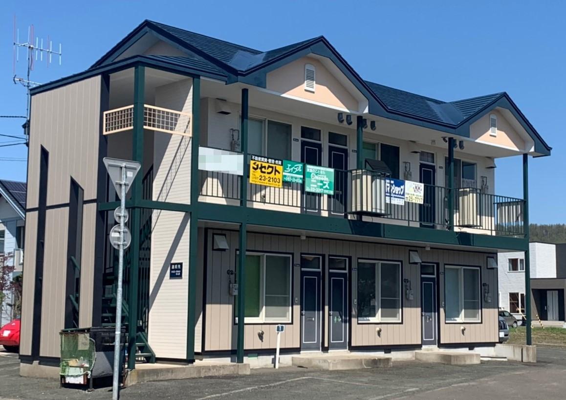 北見市・Sアパート|外壁改修・塗装工事