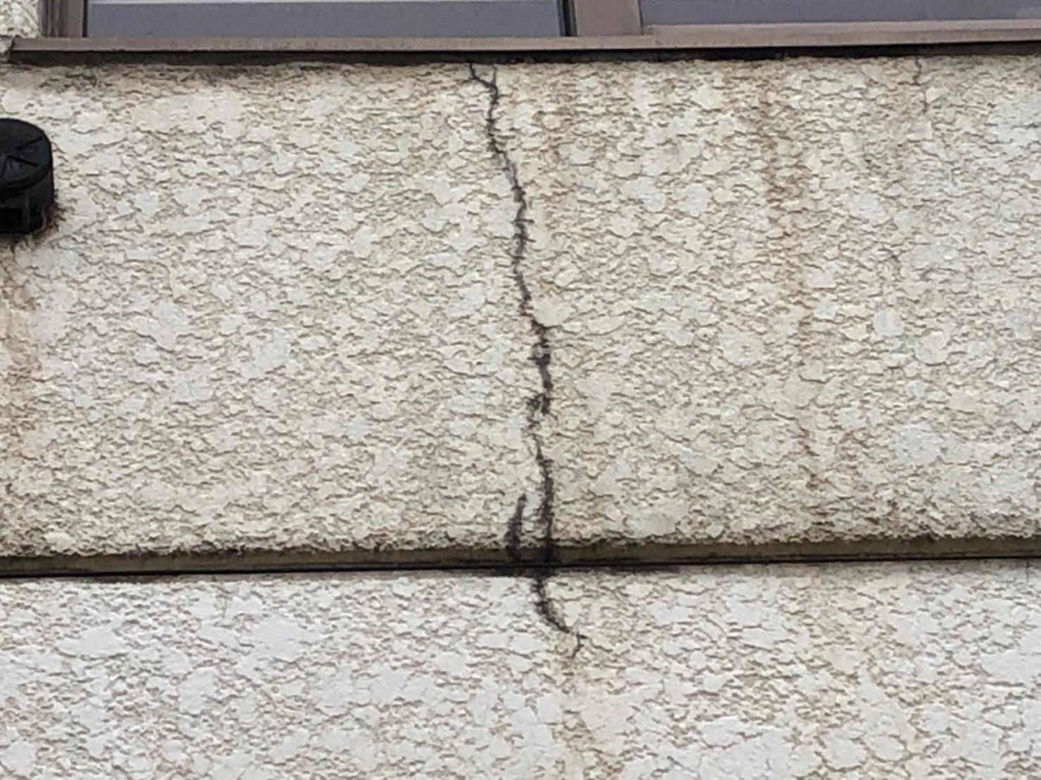 外壁損傷部分